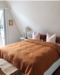 50e24c5b0d3 Our Ochre French linen quilt looking a dream at the beautiful Triangle House  in Cabarita Triangle
