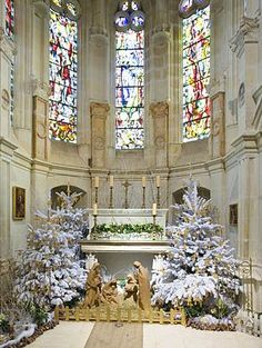Beautiful church altar