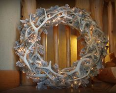 36 inch pre-lit antler wreath by SawtoothAntlerDesign on Etsy Deer Antler Crafts, Hunting Crafts, Antler Wreath, Antler Art, Deer Antlers, Christmas Room, Rustic Christmas, Christmas Wreaths, Diy Home Interior