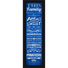 New Orleans Privateers Crackle Family Cheer Framed Art - $29.99