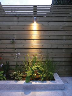 When designing your backyard, don't forget to carefully plan your lighting as well. Get great ideas for your backyard oasis here with our landscape lighting design ideas. Home And Garden, Modern Fence, Backyard Lighting, Garden Design, Fence Design, Landscape Lighting Design, Front Yard, Landscape Lighting, Fence Lighting