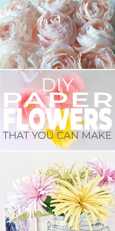 DIY Paper Flowers that You Can Make! These arent your typical tissue paper flowers! These DIY paper flowers are elegant beautiful and yet still so creative! The post DIY Paper Flowers that You Can Make! appeared first on Paper Ideas. Handmade Flowers, Diy Flowers, Fabric Flowers, Flowers Wine, Flower Bouquets, Flower Decorations, How To Make Paper Flowers, Tissue Paper Flowers, Paper Roses
