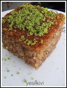 elmalı revani - My Pin Baklava Cheesecake, Middle Eastern Sweets, Turkish Sweets, Banana Ice Cream, Food Humor, Dessert Recipes, Desserts, Food To Make, Cupcake Cakes