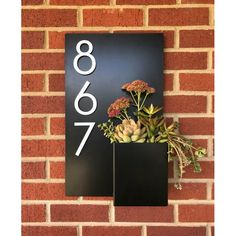 Modern Aspect Curb Appeal 1-Line Wall Address PlaqueMetal in White, Size 20.0 H x 12.0 W x 3.0 D in   Wayfair