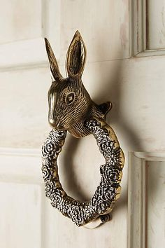 Fabled Fauna Doorknocker - anthropologie.com                                                                                                                                                                                 More