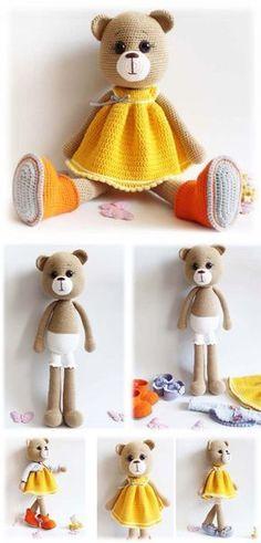 Amigurumi Bear Maya #amigurumi #amigurumipattern #crochettoy #knittingtoy #crochettutorial #stepbystep