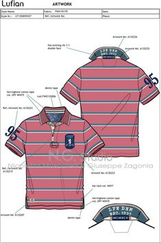 Polo shirt Designing by Illustrator CC Work Polo Shirts, Sports Polo Shirts, Mens Polo T Shirts, Polo Shirt Style, Camisa Polo, Denim Overall, Polo Shirt Design, Flat Drawings, Polo Outfit