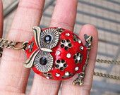 Items similar to owl  necklace-antique brass on Etsy. , via Etsy.
