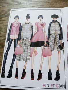 VIN ET GIAN FW15 fashion illustrator  Vincenzo Colella