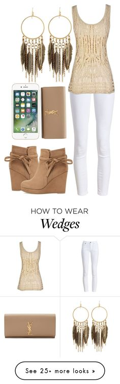 """""""Untitled #1979"""" by forever-ur-sickest-hoe on Polyvore featuring Barbour, Panacea and Yves Saint Laurent"""