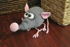 Mouse. Handmade. A toy for children. Amigurumi. Knitted toy.