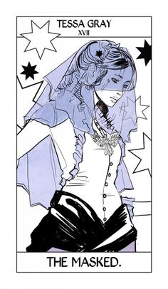 The Masked, taking the place of The Star card - Shadowhunter Tarot by Cassandra Jean #InfernalDevices #TessaGray