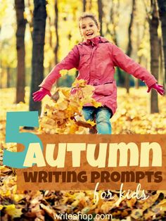 Fall is in the air! Invite the kids to pick their favorite autumn writing prompts and write stories and vivid descriptions!