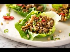Great Chinese Lettuce Wraps are all about the sauce. Get that right and you can substitute the filling with a variety of proteins and vegetables! Chinese Lettuce Wraps, Pork Lettuce Wraps, Chicken Lettuce Cups, Chinese Cooking Wine, Chinese Food, Healthy Chinese, Chinese Desserts, Mince Recipes, Pork Recipes