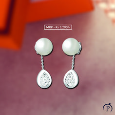Sterling Silver Earring for her. Order now and get it delivered at your doorstep from plushvie. Shop Jewellery on EMI and pay at ease . Pearl Jewelry, Diamond Jewelry, Beaded Jewelry, Silver Jewelry, Fine Jewelry, Pearl Earrings, Jewelry Shop, Jewellery, Silver Pearls
