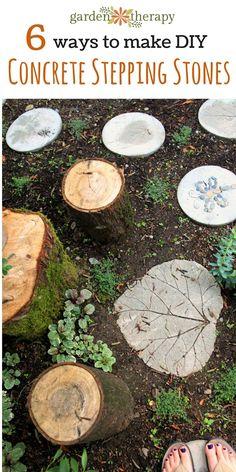 6 ways to make DIY concrete stepping stones