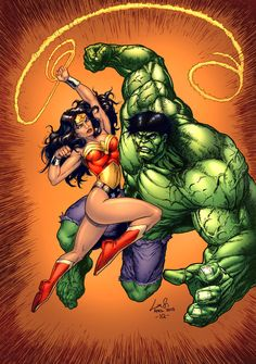 Wonder Woman VS The Hulk by ~SiriusSteve