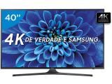 "Smart TV LED 40"" Samsung 4K/Ultra HD 40KU6000 - Conversor Digital Wi-Fi HDMI USB"