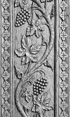 Wood Carved Ornament Background. Grapes Decoration Craving On.. Stock Photo, Picture And Royalty Free Image. Image 18445926.