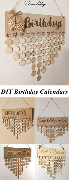 Birthday Diy Calendar Ideas 44 New Ideas Home Crafts, Fun Crafts, Diy And Crafts, Diy Projects To Try, Craft Projects, Craft Ideas, Calendrier Diy, Sewing Room Decor, Sewing Rooms