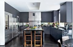 Black Kitchen Countertops Inspiration Photos | Architectural Digest