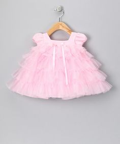 Take a look at this Pink Ruffle Dress - Infant by Sweet Pattis on #zulily today!