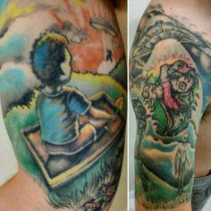 My tattoos, old tattoos! #tattoo #alien #ufo #espantalho