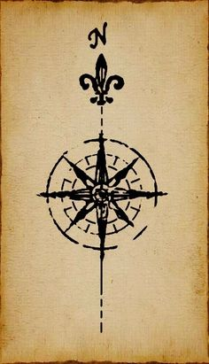 Map Compass Rose by Coscomomo