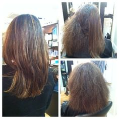 An awesome before and after keratin treatment performed by our Stylist Rebecca Murry! Check out our website for more information on our elite Spa and Salon settled in the heart of the Baltimore Harbor at the Ritz Carlton Residences! www.baltimorespasalon.com ... OR call us at (410) 625-2427  #Keratintreatment #straighteningtreatment #Kertain