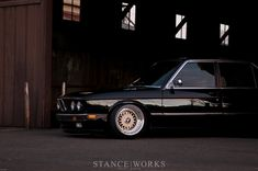 Love the mean-looking of a shark-nosed BMW 5-series E28