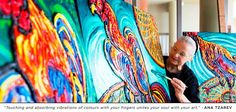 """""""Touching and absorbing Vibrations of colours with your fingers unites your Soul with your Art."""" - Ana Tzarev"""