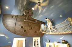 Image Detail for - pirate ship kids room 1 Most awesome kids rooms: Pirate ship room for ...
