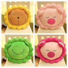 Cojín lumbar almohada Animal rana verde rosa cerdo león amarillo cojín de peluche de juguete decoración del hogar(China (Mainland))
