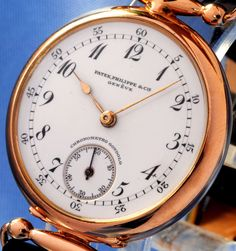 PATEK PHILIPPE & CO GENEVA SOLID 18K GOLD CHRONOMETRO GONDOLO - 1909