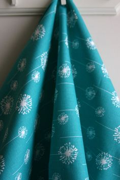 True Turquoise Small Dandelion Home Decor Weight Fabric from Premier Prints - ONE YARD. $11.50, via Etsy.