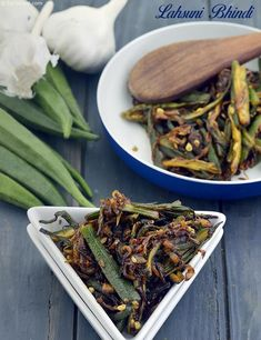 Lahsuni Bhindi, Garlic Bhindi Recipe