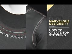 (138) Marvelous Designer 7 - How To Create Top Stitching - YouTube