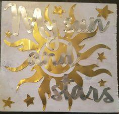 "Wood and aluminium  ""My Sun and Stars"""
