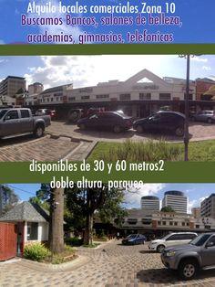 Alquilo locales comerciales zona 10 Guatemala excelente ubicacion, centro comercial con seguridad y parqueo propio. Disponibles a partir diciembre 2012 2 locales: 30 metros2  $850 60 metros2 $2000 ambos doble altura visitas anaurrutia@live.com