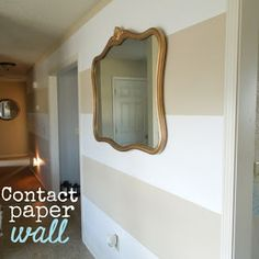 Darling Daly Design: Contact Paper Wall. Genius!!!! Only $20 and no paint!!!
