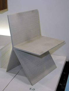The chair is made of an ultra strong concrete, which allows the design to be extremely thin. So yes: you can really put all of your weight on the seat. Concrete Dining Table, Concrete Furniture, Sofa Furniture, Furniture Design, Street Furniture, Diy Concrete, Concrete Projects, Concrete Design, Futuristic Furniture