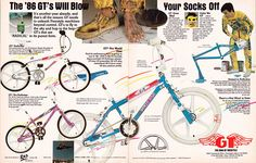 1986 GT Freestyle bike advertisement!
