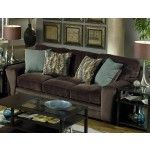 Jackson Furniture - Whitney Sofa in Chocolate Fabric - 4397-03  SPECIAL PRICE: $819.00