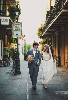 New Orleans French Quarter Wedding // Crystal + Will