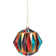glass faceted colour bauble paperchase