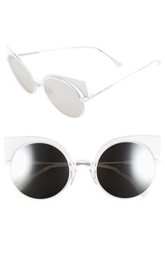 0cce5f34afe4 Silver Cat Eye sunglasses by Fendi. Shop these sunglasses by clicking on  the picture.