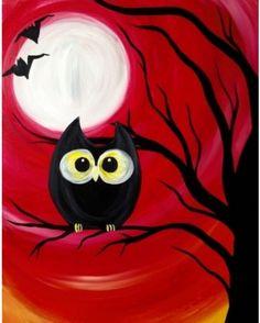 Foods After Sports - Paint Nite Edmonton Autumn Painting, Autumn Art, Painting For Kids, Painting & Drawing, Drawing Drawing, Halloween Painting, Halloween Art, Halloween Canvas Paintings, Paint And Sip