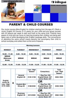 Parent & Child Courses 2013