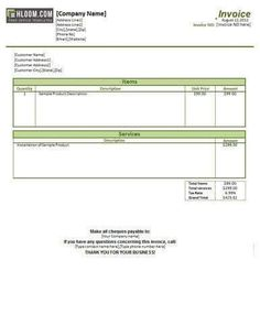 Vehicle Repair Invoice Template  Garage Invoice Template
