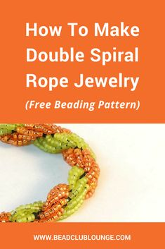 How To Make Double Spiral Rope Jewelry Learn how to create beautiful Double Spiral Rope beaded jewelry like bracelets and necklaces with this simple, free jewelry-making pattern. This beading tutorial is great for beginners. via Bead Club Lounge Beading Patterns Free, Beaded Bracelet Patterns, Beaded Bracelets, Rope Bracelets, Bead Patterns, Weaving Patterns, Embroidery Patterns, Silver Bracelets, Making Bracelets